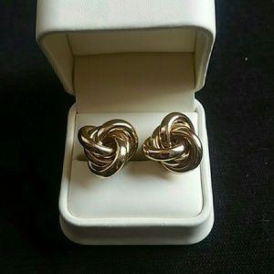 4cb4d7dfbe57b BEBE large gold knot earrings
